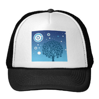 Tree And Night Sky Colorful Design Styles Cap