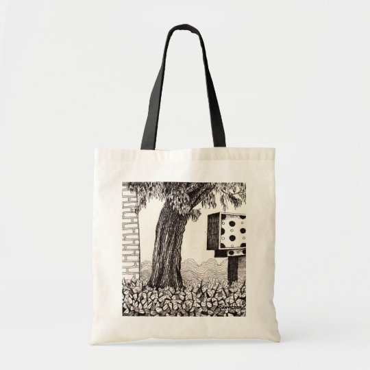 Tree and Polka Dots Tote Bag