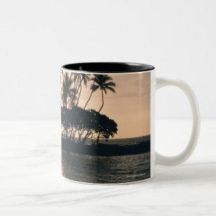 Tree and Sea Two-Tone Coffee Mug