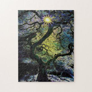 tree and sunshine artwork b jigsaw puzzle