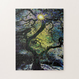 tree and sunshine artwork b puzzle