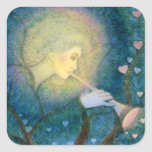 Tree Angel Musical Hearts Love Call for Christmas Sticker