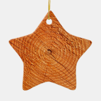 Tree annual rings close up christmas ornament