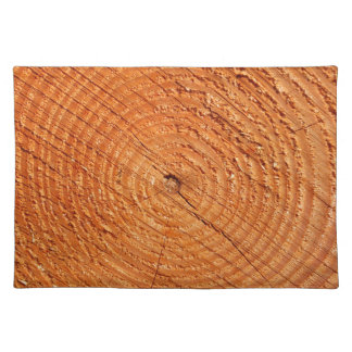 Tree annual rings close up placemat