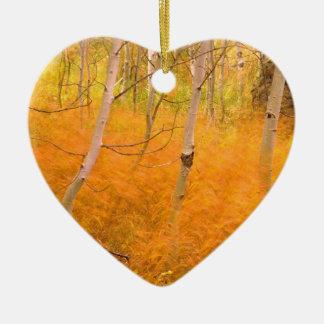 Tree Aspens And Windblown Grasses Idaho Ornaments