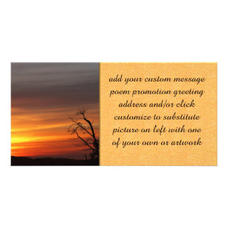 Tree At Sunset Photo Card Template