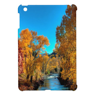 Tree Autumn Leaves River iPad Mini Cover
