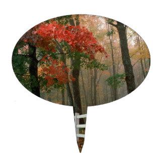 Tree Autumn Splendor Cake Topper
