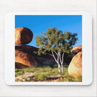 Tree Balancing Boulder Australia Mouse Pads