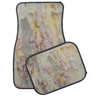 Tree Bark Abstract in Yellow, Pink, & Gray Floor Mat