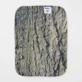 Tree bark burp cloth