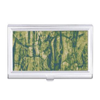 Tree bark camouflage pattern business card holder