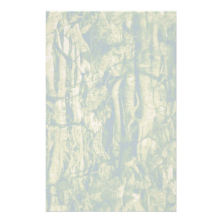 Tree bark camouflage pattern stationery paper