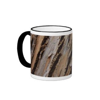 Tree Bark I Natural Abstract Textured Design Ringer Mug