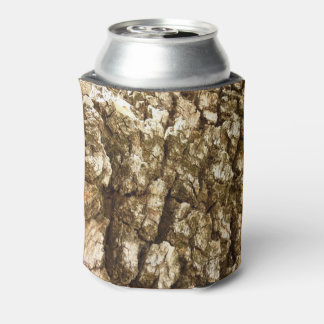 Tree Bark II Natural Abstract Textured Design Can Cooler
