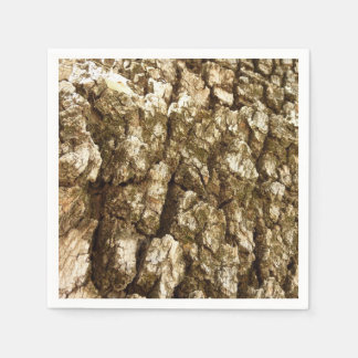 Tree Bark II Natural Abstract Textured Design Disposable Serviettes