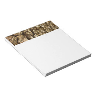 Tree Bark II Natural Abstract Textured Design Notepad