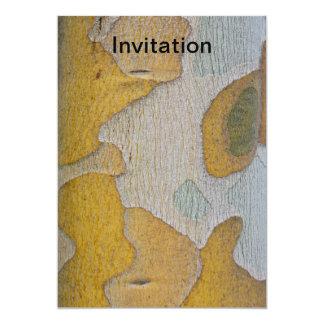 Tree Bark in Yellow and White Invitation