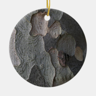 Tree Bark macro photography Round Ceramic Decoration