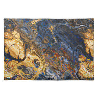 Tree Bark Marbled Abstract Placemat