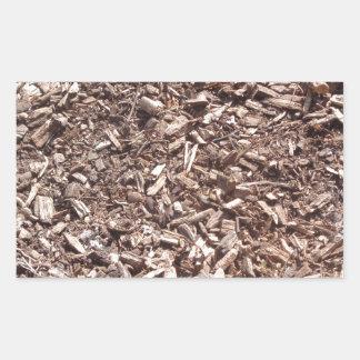 Tree bark, Nature, Brown Rectangular Sticker