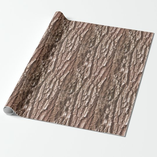 Tree Bark Nature Pattern Wrapping Paper