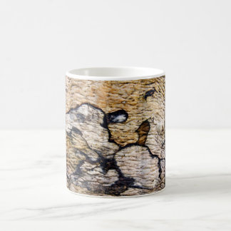 Tree bark pattern basic white mug