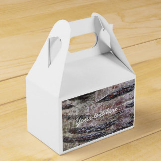 Tree Bark Texture Photo Favour Boxes