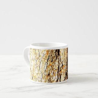 Tree Bark with Orange Tones Espresso Mug