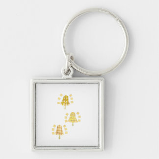 Tree Bell Premium Keyring Silver-Colored Square Key Ring
