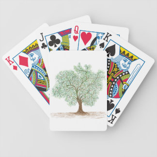 tree bicycle playing cards