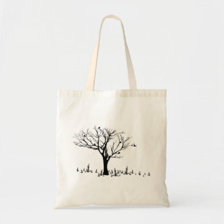 Tree, birds, grass Budget Tote
