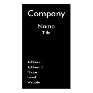 Tree Black & White Business Card Template
