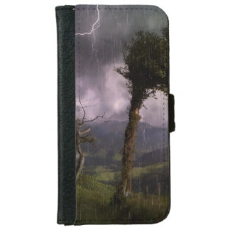 Tree Blowing in the Wind During a Thunder Storm iPhone 6 Wallet Case