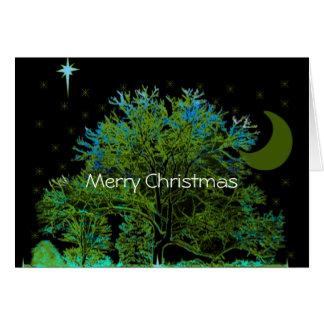Tree Blues Greeting Card
