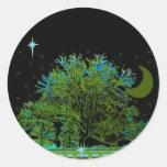 Tree Blues Stickers