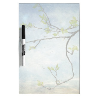 Tree Branch Over Textured Sky Dry Erase Board