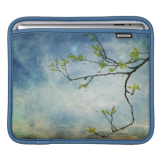 Tree Branch Over Textured Sky iPad Sleeve
