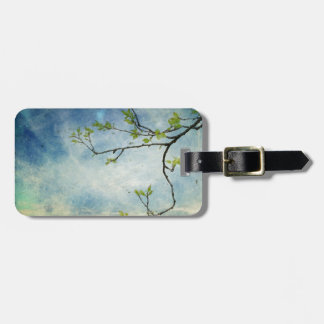 Tree Branch Over Textured Sky Luggage Tag
