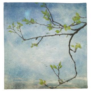 Tree Branch Over Textured Sky Napkin