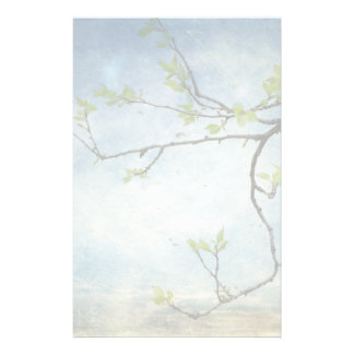 Tree Branch Over Textured Sky Stationery