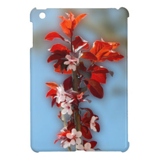 Tree branch with flowers red leaves iPad mini covers