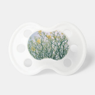 Tree Branches and Yellow Blossoms Baby Pacifiers