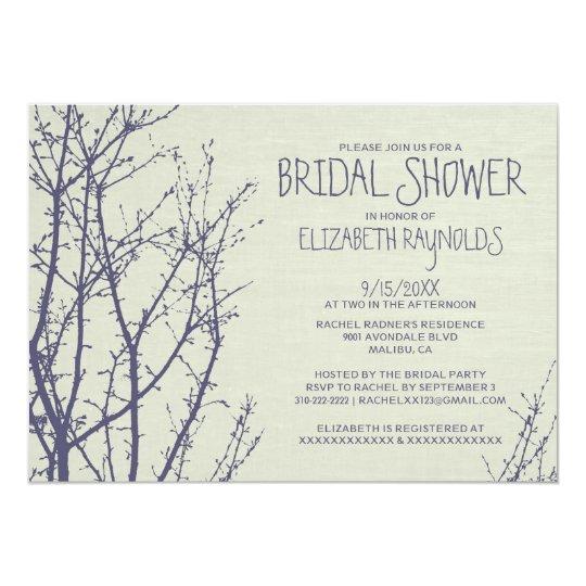 Tree Branches Bridal Shower Invitations