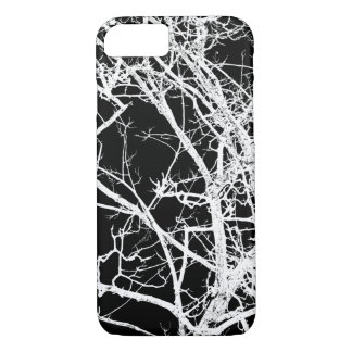 Tree branches on black background iPhone 7 case