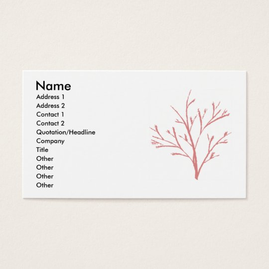 Tree by Jenny Arder Business Card