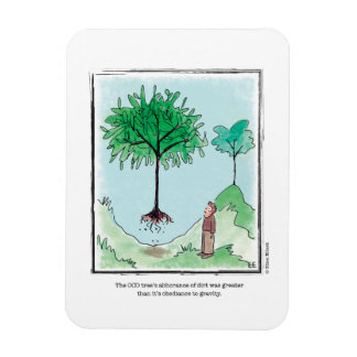 TREE cartoon by Ellen Elliott Rectangular Photo Magnet