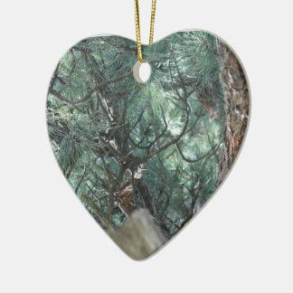 Tree Ceramic Heart Decoration