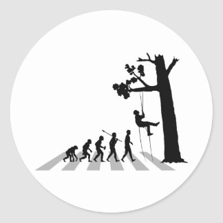 Tree Climbing Round Sticker