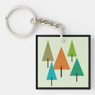 Tree Contemporary Art Key Ring